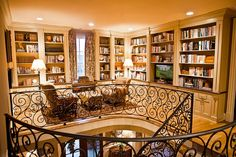 Eric Ross upstairs landing bookshelves AFTER