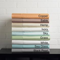 Solid Colored Rayon from Bamboo Breathable Deep Pocket Sheet Set