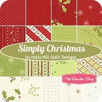 Simply Christmas Fat Quarter Bundle<BR>Holly Hill Designs for Henry Glass Fabrics
