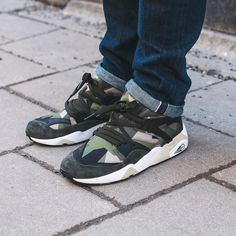 """It's now less than two days left until the release of the PUMA x Sneakersnstuff """"Swedish Camo Pack""""! FYI: One pair of green laces is included with the BOG. #sneakersnstuff #puma #swedishcamopack #blazeofglory #ignite by sneakersnstuff"""