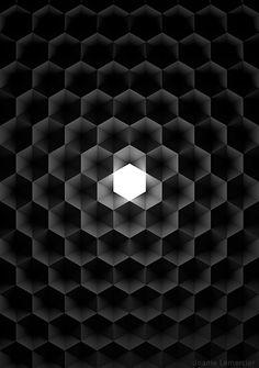 """joanielemercier:  """" Hexagones, lumière.  www.joanielemercier.com  """""""