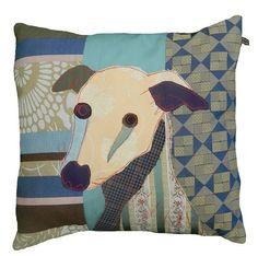 CAROLA VAN DYKE - Flash the whippet, cushion