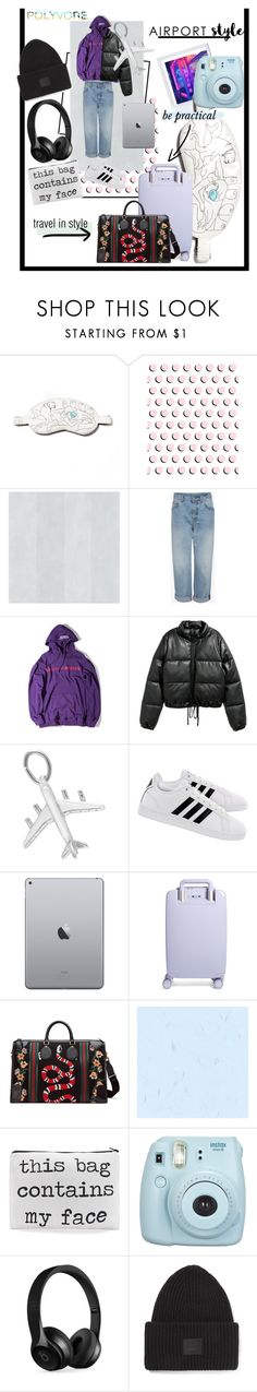 """""""seriously laid back"""" by madmadry ❤ liked on Polyvore featuring Morgan Lane, Alexander McQueen, WithChic, Jakke, adidas, Raden, Gucci, Fujifilm, Beats by Dr. Dre and Acne Studios"""