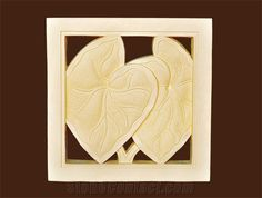 Bali Stone Engraved Tiles, Beige Limestone Relief, Etching