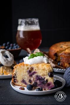 Blueberry Beer Cream Cheese Cake with Basil Whipped Cream - The Beeroness Beer Cupcakes, Cupcake Cakes, Whiskey Chocolate, Whipped Cream Ingredients, Recipes With Whipping Cream, Bowl Cake, Big Cakes, Classic Cake, Corona