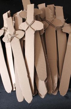 Card board swords