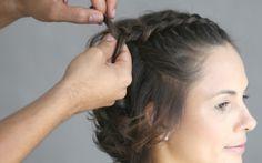 trança embutida penteado cabelo curto