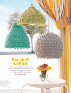 Free beautiful Lampshade pattern I found these... | La Chainette