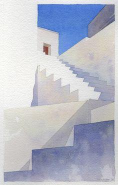 Greece Steps by Thomas W Schaller