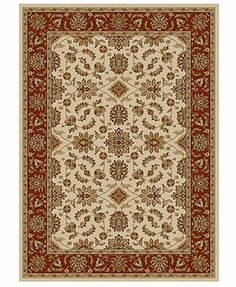 Kenneth Mink Area Rug Set, Vienna Collection 5-Piece Set Meshed Ivory/Brick - Macy's