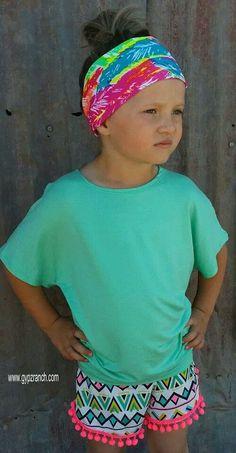 Kids - North Ridge Tribal Neon Shorts www.gypzranch.com