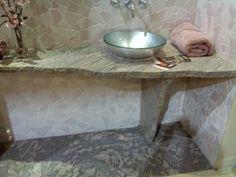 powder room granite idea