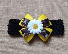 Bebé niña diadema flor diadema diadema de por GloriaMillerCreation