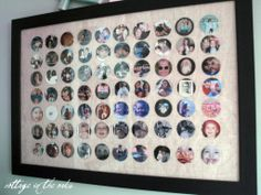 Circle Collage frame .... cleared out over 70 framed photos!