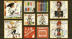 QT 23369 J Draw Near Picture Patches by Janet Wecker Frisch for Quilting Treasures. Colorful Drawings, Easy Drawings, Steampunk Drawing, Watercolor Paint Set, Artist Supplies, Panel Quilts, Painted Books, Black Artists, Panel Art