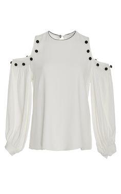 Alexis Erica Cold Shoulder Embellished Top   Moda Operandi