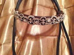 Rhinstone Lace Browband for horse bridle by Oko Konia. Find us on FB and at www.okokonia.com.