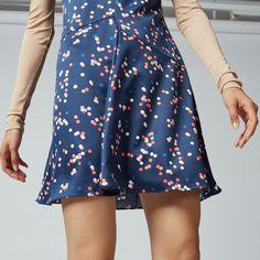 Warehouse, CONFETTI SPOT DRESS Blue Pattern 4