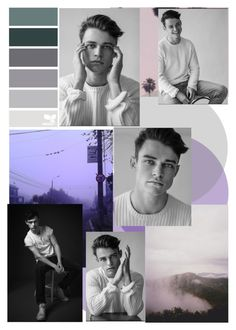"""""""Thomas Doherty: Purple & Gray"""" by beck-bows-and-ribbons ❤ liked on Polyvore featuring art"""