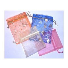 Items similar to 30 Blue Organza Drawstring Gift Bags on Etsy Organza Gift Bags, Stars And Moon, Nifty, Tulip, Gold, Crafts, Blue, Etsy, Design