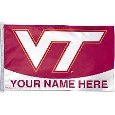 Wincraft Virginia Tech Hokies Personalized 3x5 Flag