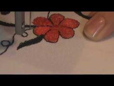 Машинная вышивка. Настройка швейной машинки. Строчевая гладь - YouTube