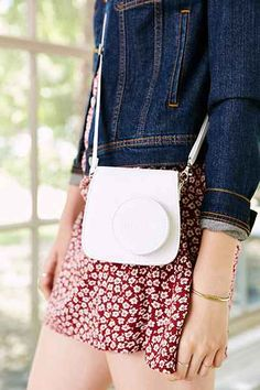 Fujifilm Instax Mini 8 Camera Case - Urban Outfitters (in black) http://minivideocam.com/product-category/camera-cases/