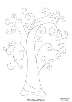 Charmant Bastelvorlage Baum Eine Idee Zum Bestempeln Gibt Es Hier Die Malvorlage  Steht Unter Einhaltung Der