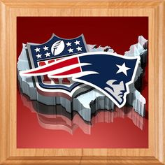 New England Patriots Metal Garden Sign