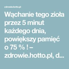 Wąchanie tego zioła przez 5 minut każdego dnia, powiększy pamięć o 75 % ! – zdrowie.hotto.pl, domowe sposoby popularne w necie