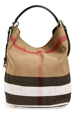 Burberry Brit 'Medium Susanna' Check Print Bucket Bag available at #Nordstrom