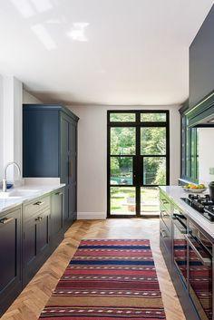 Home Room Design, Interior Design Kitchen, House Design, 1930s House Renovation, Window Seat Kitchen, Dream House Interior, Bespoke Kitchens, Kitchen Layout, Kitchen Ideas