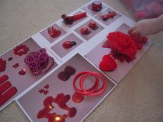 February activity trays – V is for Valentine's Day   One Perfect Day