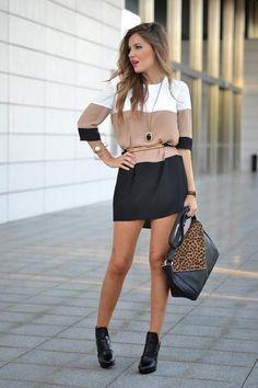 White Coffee Black Dress