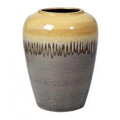 Kæmpe Vase i Keramik fra Broste, Yellow RIO XL