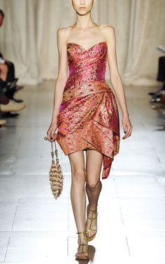 Marchesa S/S 2013 Strapless Sari Cocktail Dress at Moda Operandi $3995