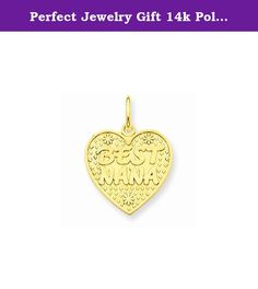 Perfect Jewelry Gift 14k Polished Best Nana in Heart Charm. 14k Polished Best Nana in Heart Charm Polished - 14k Yellow gold - Not engraveable - Textured back Size: 0 Length: 21 Weight: 1.29 Jewelry item comes with a FREE gift box. Re-sized or altered items are not subject for a return. 14k Polished Best Nana in Heart Charm Product Type:Jewelry Jewelry Type:Pendants & Charms Pendant/Charm Type:Themed Charm Material: Primary:Gold Material: Primary - Color:Yellow Material: Primary…