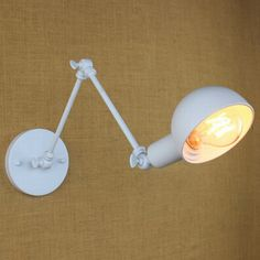 Find More Wall Lamps Information about classical design North Europe modern white retro adjust head swing arm wall lamps for workroom bedside bedroom wall sconce ,High Quality armed ottoman,China lamps dlp Suppliers, Cheap arm floor lamp from Newatmosphere Lighting Co., Ltd. on Aliexpress.com