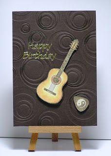 Cathys Card Spot: Birthday Guitar