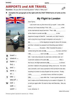 Airports and Air Travel, Airport, Travel, vocabulário, ESL, English phrases…