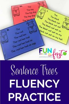 Teach Your Child To Read Tips - Sentence Trees are a wonderful way for your beginning readers to gain confidence in their reading skills. - TEACH YOUR CHILD TO READ and Enable Your Child to Become a Fast and Fluent Reader! Reading Fluency Activities, Fluency Practice, Kindergarten Reading, Reading Strategies, Reading Skills, Teaching Reading, Reading Comprehension, Teaching Art, Reading Fluency Games