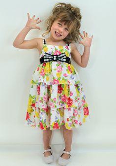 Aoife in Monnalisa from Designerchildrens... #monnalisa #designerkids #designerclothes #luxurykids #kidsclothes #girlsclothes #modelkids #fun #summer #dress #chic #style #kidsblog