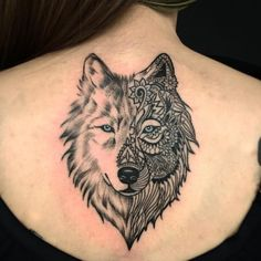 Wolves are one of the most popular tattoo designs for women. If you want a wolf tattoo but are unsure of what to choose then, you have come to the right place. These beautiful female tattoo designs will leave you wanting some ink. Wolf Face Tattoo, Wolf Tattoo Back, Tribal Wolf Tattoo, Wolf Tattoo Design, Wolf Tattoo Girls, Wolf Girl Tattoos, Wolf Tattoos For Women, Tattoos For Women Half Sleeve, Tattoo Designs For Women