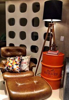 Hermés #hermés  #drum #oildrum #industrialdesign #barril #rebecaguerra #lata #decoração