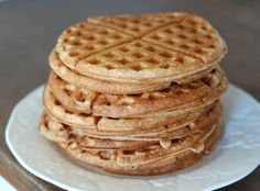 homemade recipes and cutting out processed food- we made these waffles and they are AWESOME! Wyatt ate them without the syrup and loved them