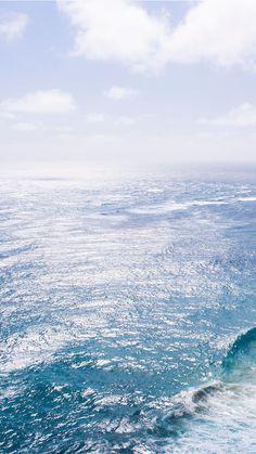 Nature Sea Blue Wave Ocean #iPhone #6 #plus #wallpaper