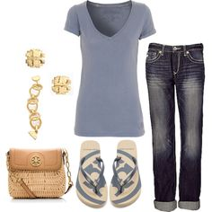 Summer, created by honeybee20 on Polyvore. All just the colors I would choose!  Perfect!