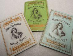 3 vintage/antique packets of needles  Rug by vintagebuttonemporiu, £4.00