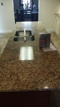 Giallo Napoli Granite Kitchen Countertop Install For The Coley Family.  Knoxvilleu0027s Stone Interiors. Showroom