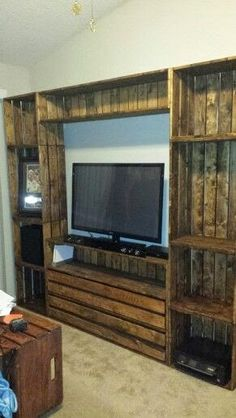 A Little Bit of This, That, and Everything: Pallet Entertainment Center